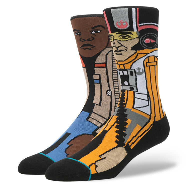 "Instance ""The Resistance 2"" Finn & Poe Dameron Star Wars Socks  - 1"