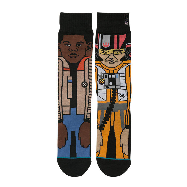 "Instance ""The Resistance 2"" Finn & Poe Dameron Star Wars Socks  - 2"