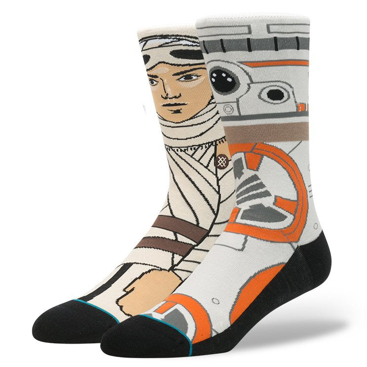 "Instance ""The Resistance"" Rey & BB8 Star Wars Socks  - 1"