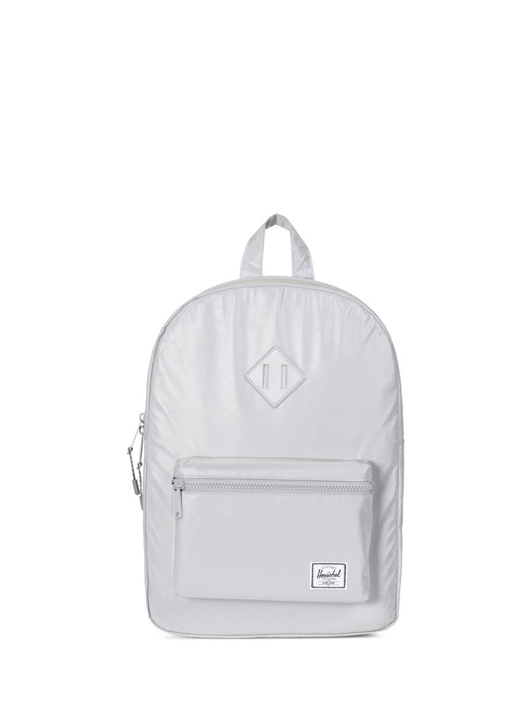 Join Boys'Co A-List for Herschel DIscount Code Herschel Supply Co Heritage Youth Backpack in Reflective Silver Front