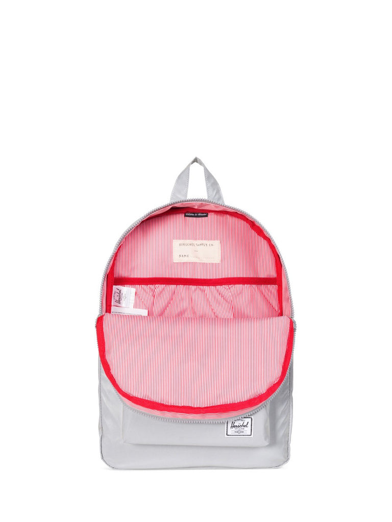 Join Boys'Co A-List for Herschel DIscount Code Herschel Supply Co Heritage Youth Backpack in Reflective Silver Open