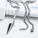 VITALY KUNAI NECKLACE IN STEEL  - 2