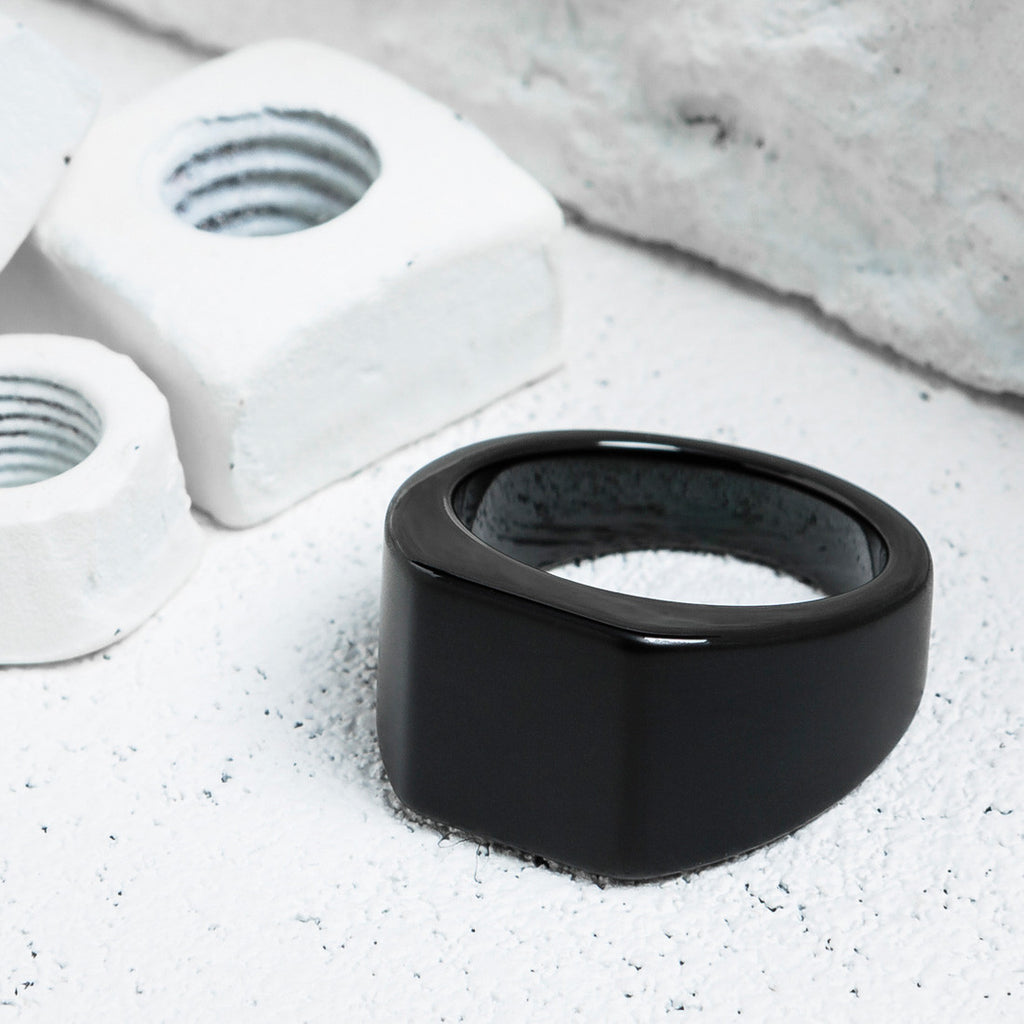 VITALY LOURD RING IN MATTE BLACK  - 2