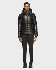 RUDSAK DRAVEN X CLOUD LEATHER DOWN PUFFER IN BLACK