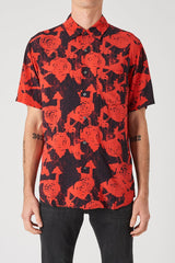 NEUW RED FLORAL SHORT-SLEEVE SHIRT