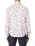 NAKED AND FAMOUS REGULAR SHIRT IN WHITE WITH GEISHA PRINT  - 3