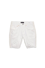 PURPLE BRAND P020 LOW-RISE SLIM FIT WHITE STRIPE PAINT SHORT