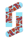 HS PAISLEY SOCK IN LIGHT BLUE