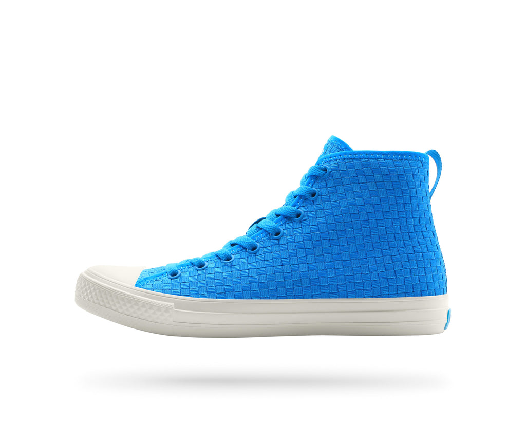 PEOPLE FOOTWEAR PHILLIPS HIGH-TOP SNEAKERS IN HAWAIIAN BLUE AND PICKET WHITE  - 1