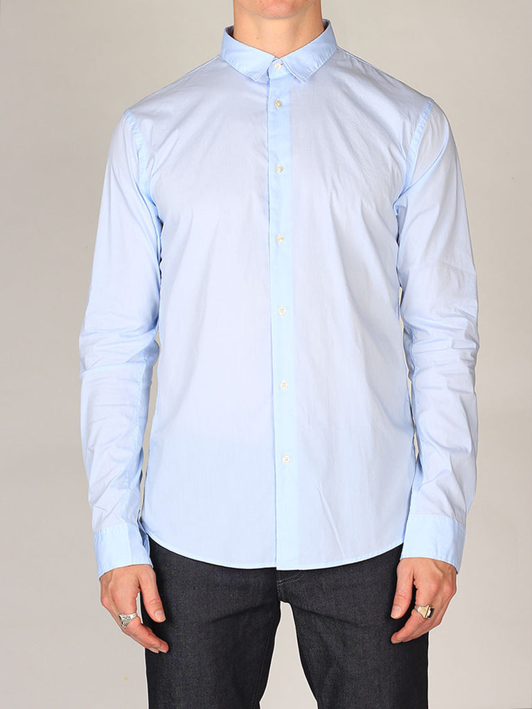 Scotch & Soda Premium Button-Up Shirt in Light Blue
