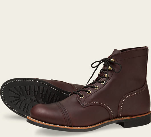 REDWING IRON RANGER BOOT IN OXBLOOD MESA LEATHER