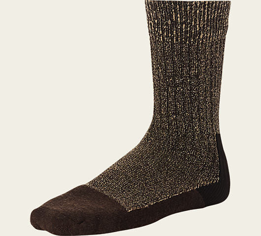 RED WING TOE-CAPPED WOOL SOCKS IN HEATHERED BROWN