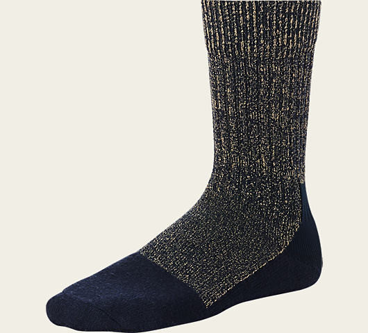 RED WING TOE-CAPPED WOOL SOCKS IN HEATHERED NAVY