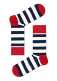 HS STRIPE SOCK IN BLUE RED WHITE
