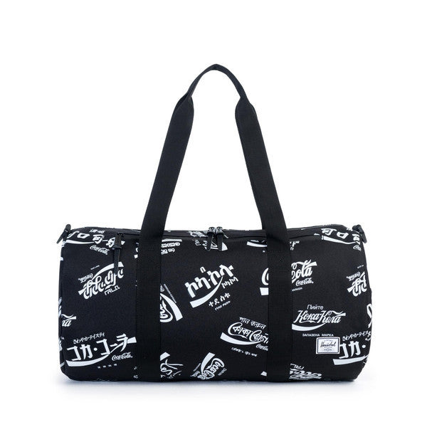 HERSCHEL X COCA-COLA SPARWOOD DUFFLE BAG IN BLACK