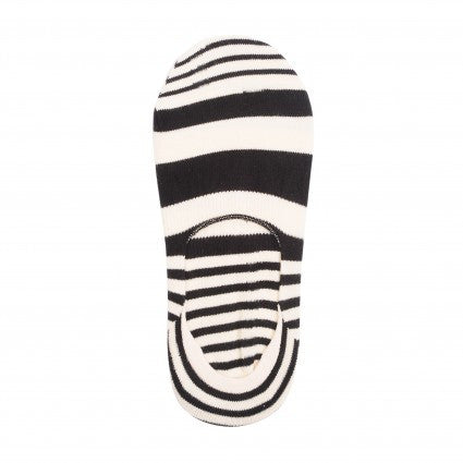 HS STRIPE INVISIBLE SOCKS IN CREAM AND BLACK
