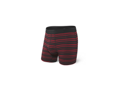 SAXX PLATINUM BOXER BRIEFS IN BLACK/RED TIDAL STRIPE