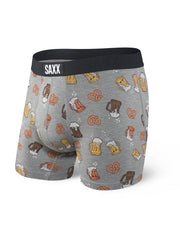 SAXX VIBE BOXER BRIEFS IN GREY BEER CHEERS