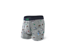 SAXX VIBE BOXER BRIEFS IN GREY MOUNTAIN HIGH