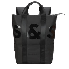 SULLY & SON TOKU HYBRID TOTE BACKPACK IN BLACK