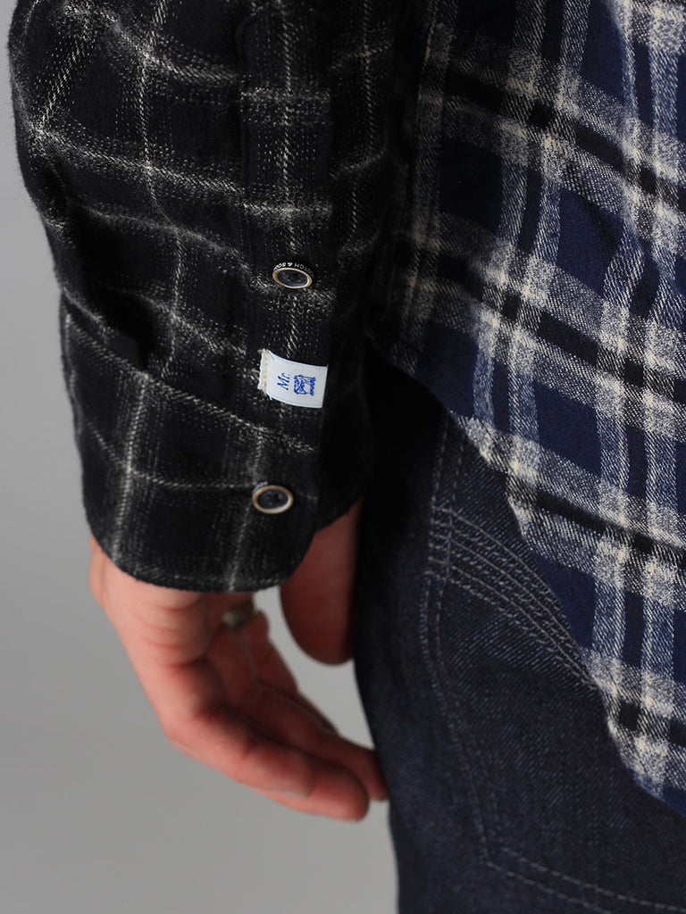 Scotch & Soda Panel Constructered Long Flannel Shirt