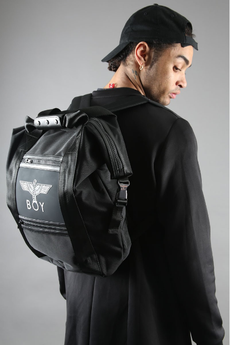 BOY LONDON BOY EAGLE RUCKSACK IN BLACK