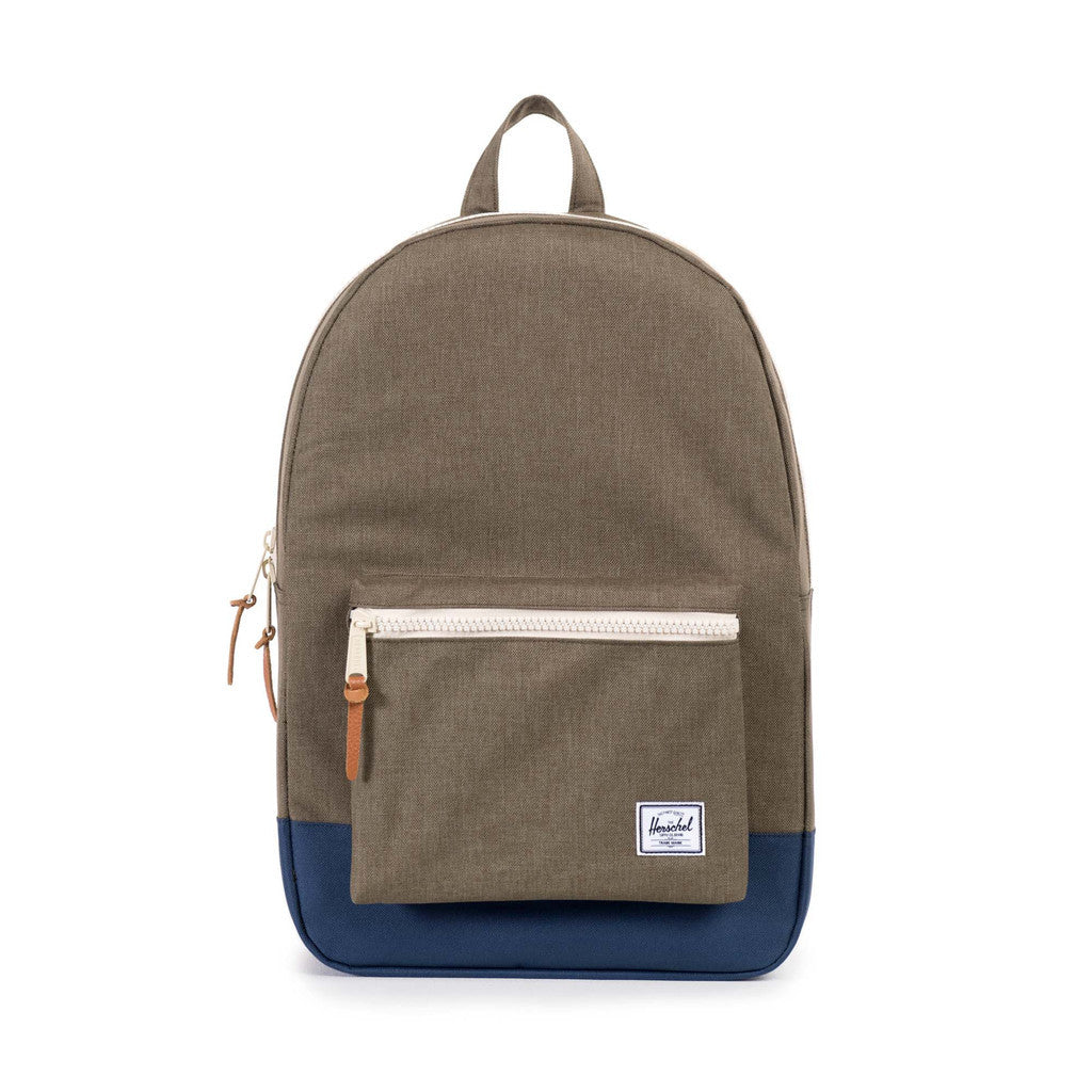HERSCHEL SETTLEMENT BACKPACK IN BEECH CROSSHATCH AND NAVY