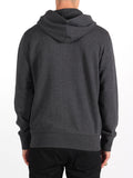 FRED PERRY LOOPBACK HOODED SWEATSHIRT IN GREY MARL  - 4