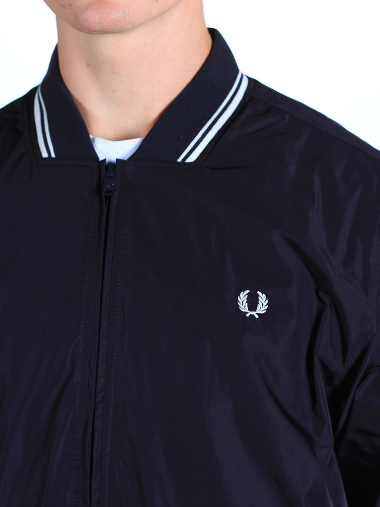 FRED PERRY TWIN TIPPED BOMBER JACKET IN NAVY  - 5