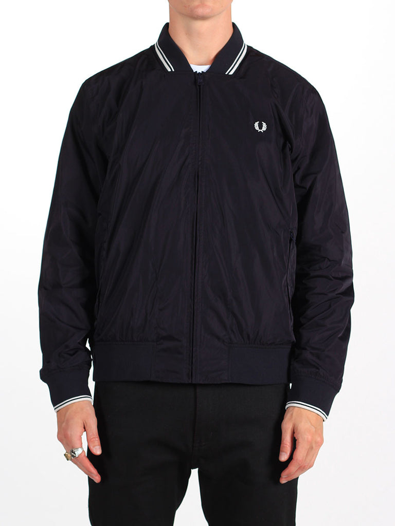 FRED PERRY TWIN TIPPED BOMBER JACKET IN NAVY  - 2