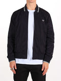 FRED PERRY TWIN TIPPED BOMBER JACKET IN NAVY  - 1