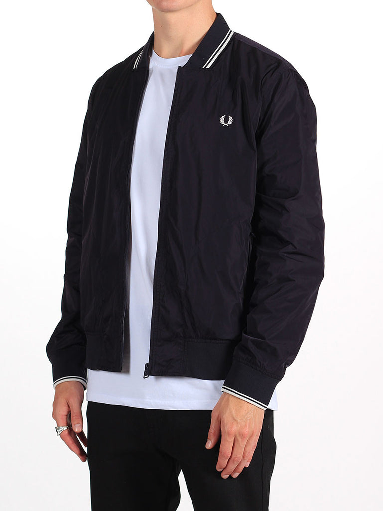 FRED PERRY TWIN TIPPED BOMBER JACKET IN NAVY  - 3