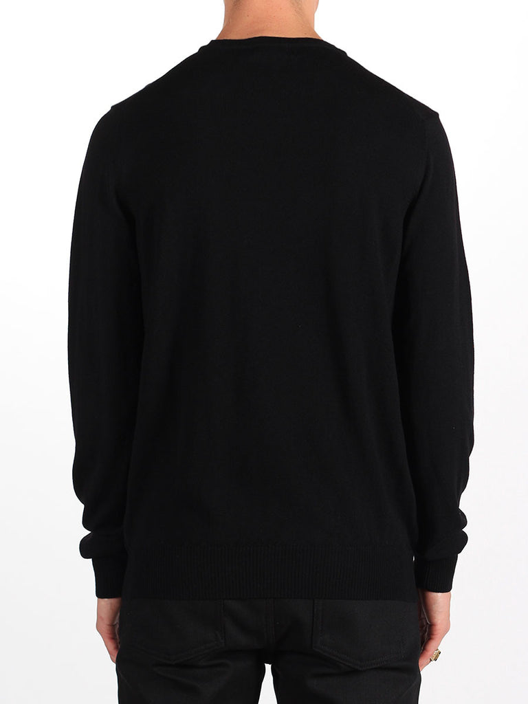 Shop mens knitwear and the best in mens fall fashion at BoysCo J Lindeberg Lyle True Merino Sweater in Black Back