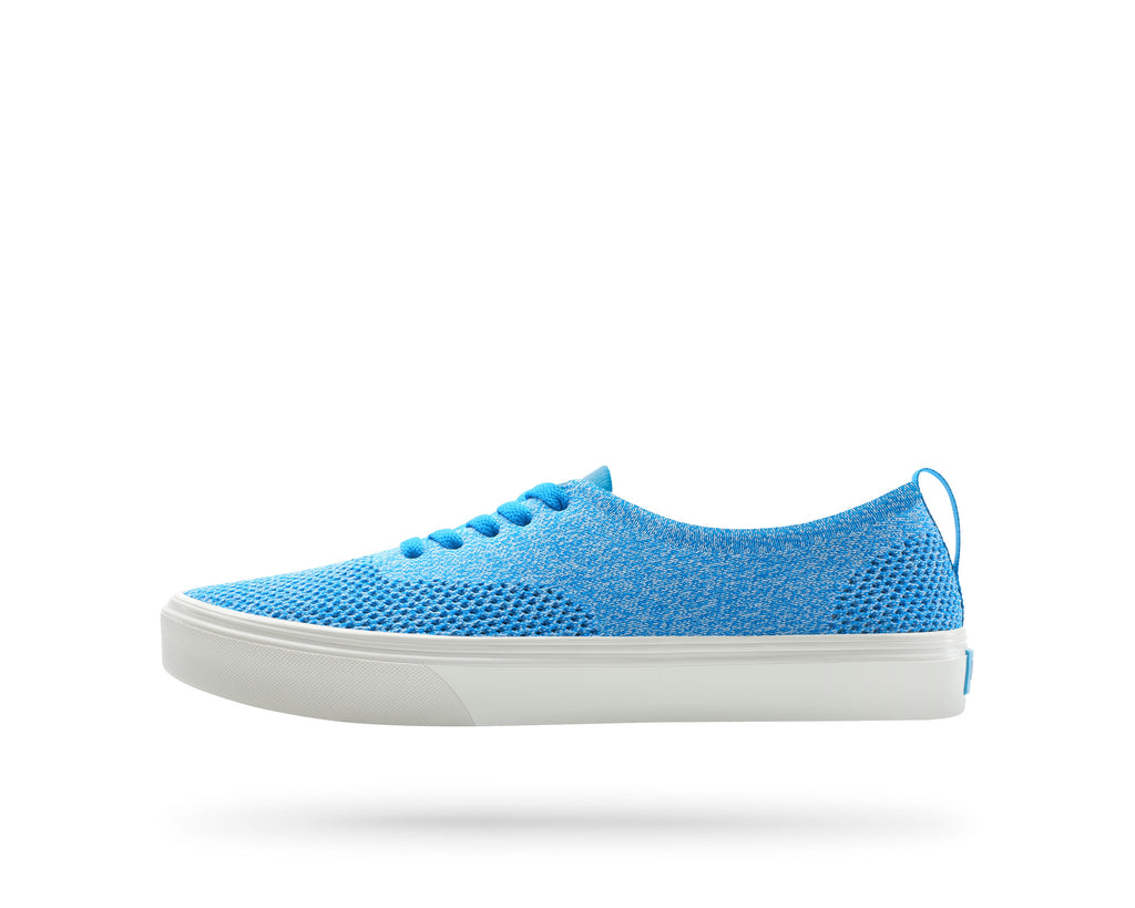 PEOPLE FOOTWEAR STANLEY KNIT SNEAKERS IN HAWAIIAN BLUE YETI WHITE AND PICKET WHITE  - 1