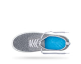 PEOPLE FOOTWEAR STANLEY KNIT SNEAKERS IN HEATHERED GREY AND SKYLINE GREY  - 2