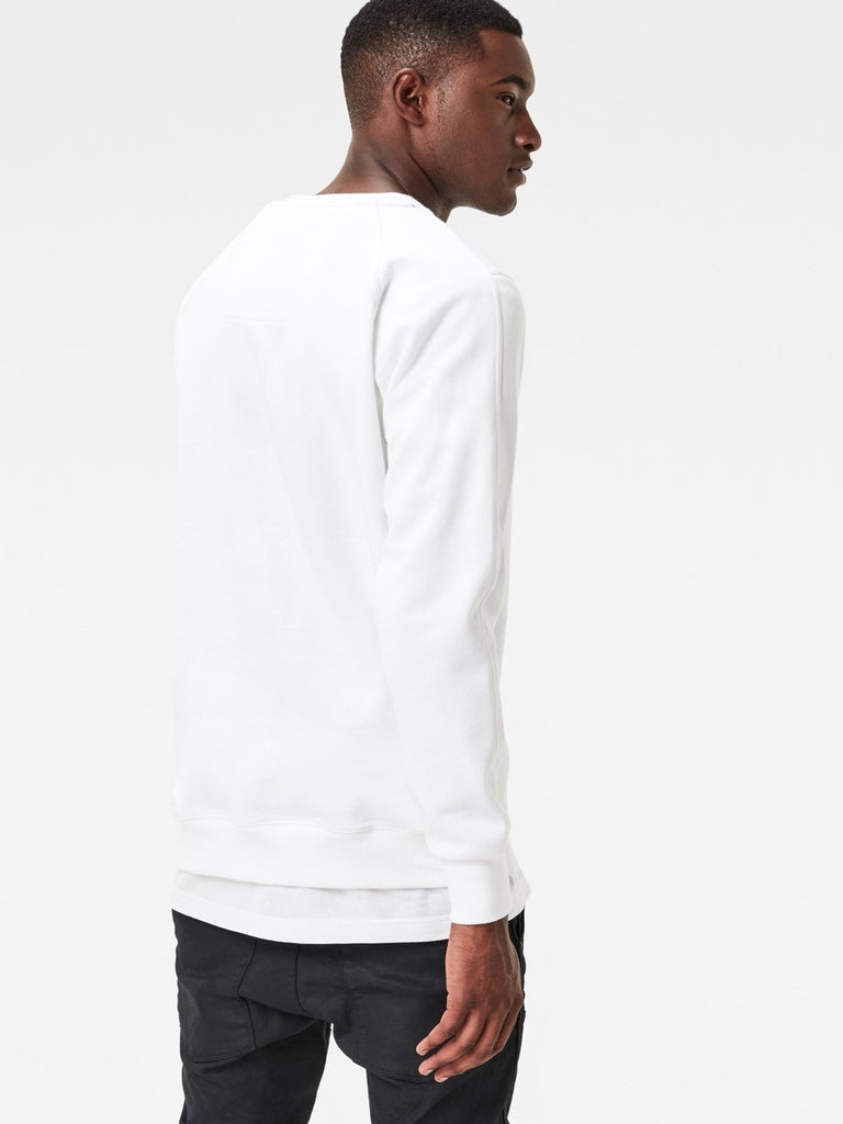 The Best Mens Fashion Urban Style and Streetwear Brands G-Star Afrojack Sweatshirt in White Back