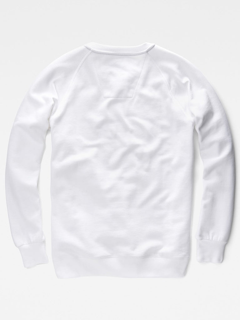 The Best Mens Fashion Urban Style and Streetwear Brands G-Star Afrojack Sweatshirt in White Flat Back