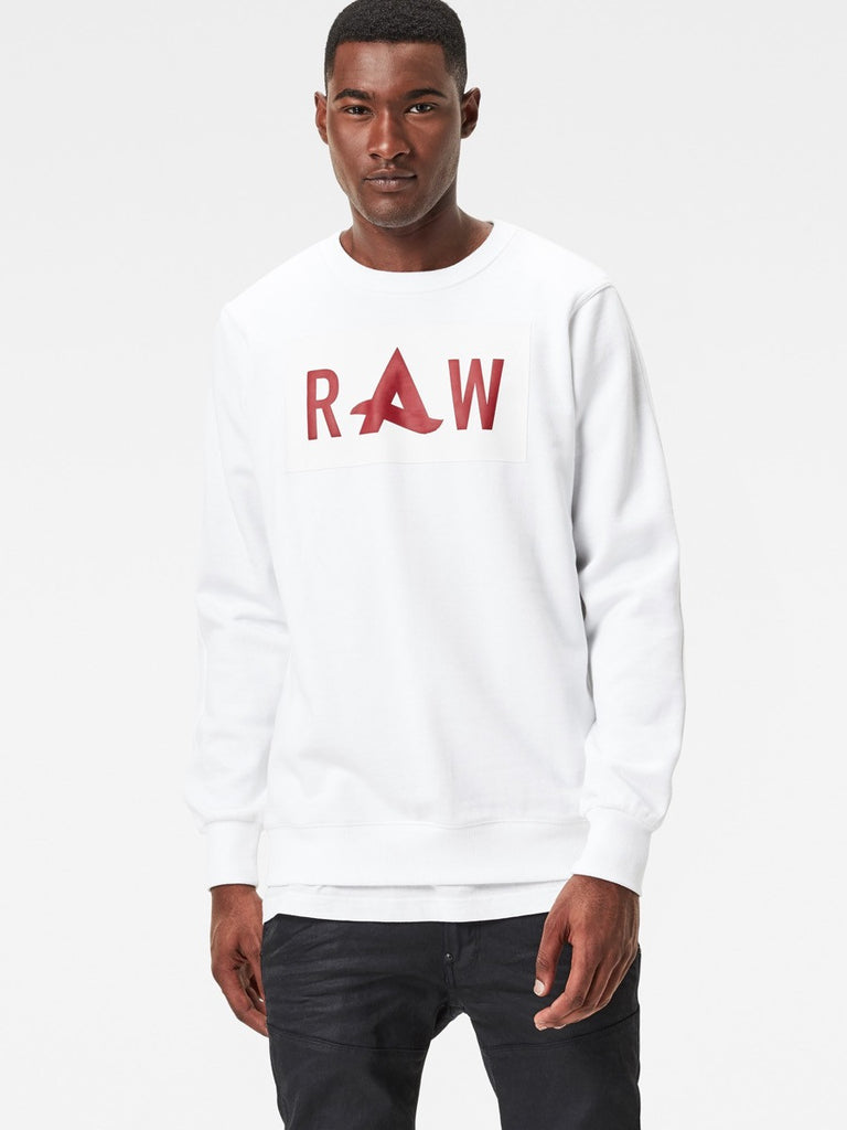 The Best Mens Fashion Urban Style and Streetwear Brands G-Star Afrojack Sweatshirt in White Front