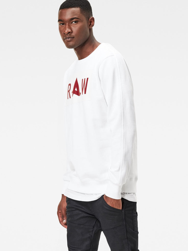 The Best Mens Fashion Urban Style and Streetwear Brands G-Star Afrojack Sweatshirt in White Side