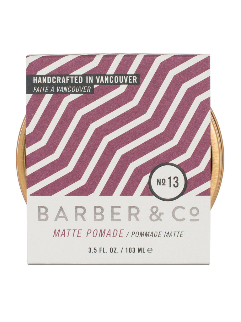 The Best Mens Style and Mens Fashion Barber and Co No.13 Matte Pomade Front