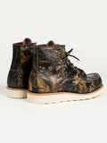 The Best Online Canadian Shoe Stores Mens Fall Fashion Mens Style Redwing Moc Toe Boots in Mossy Oak Camouflage Back