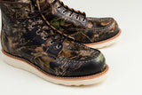 The Best Online Canadian Shoe Stores Mens Fall Fashion Mens Style Redwing Moc Toe Boots in Mossy Oak Camouflage Detail 2