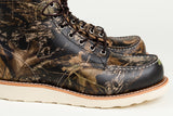 The Best Online Canadian Shoe Stores Mens Fall Fashion Mens Style Redwing Moc Toe Boots in Mossy Oak Camouflage Detail 1