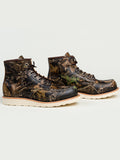 The Best Online Canadian Shoe Stores Mens Fall Fashion Mens Style Redwing Moc Toe Boots in Mossy Oak Camouflage Side