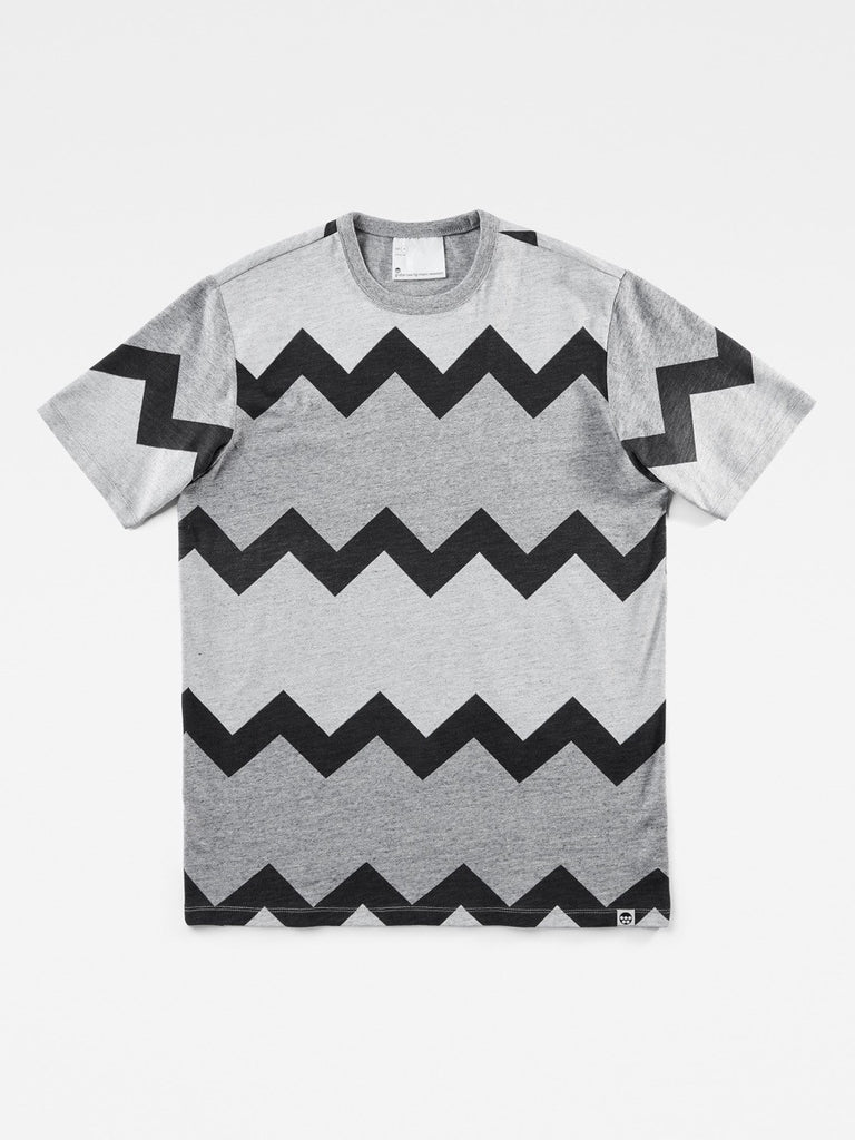 The Best Streetwear Brands Mens Fashion and Urban Style G-Star by Marc Newson IND Zig-Zag T-Shirt Front