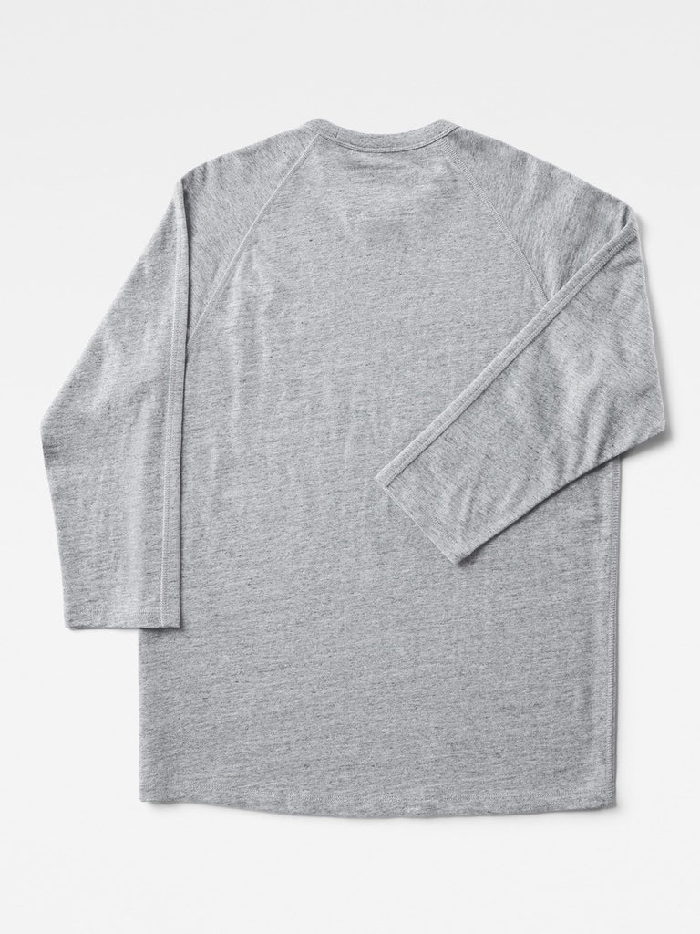 G-Star by Marc Newson Ultimate Jersey Leather Patch 3/4 Sleeve T-Shirt in Grey Heather