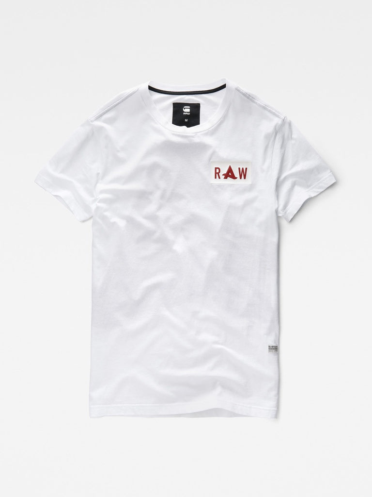 G-Star Afrojack Logo Long T-shirt in White