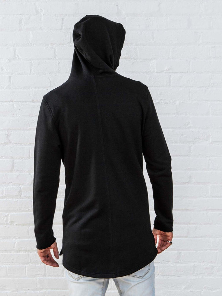 The Best Streetwear Brands and Urban Style Vitaly Fishtail Hoodie in Black Back