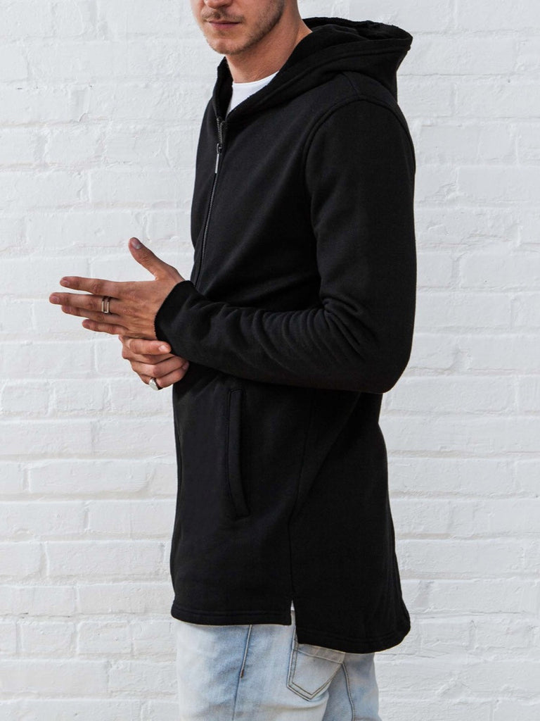 The Best Streetwear Brands and Urban Style Vitaly Fishtail Hoodie in Black Side