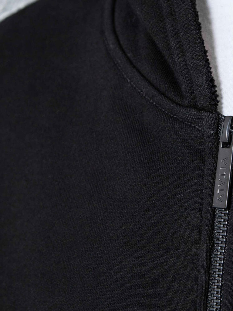 The Best Streetwear Brands and Urban Style Vitaly Fishtail Hoodie in Black Detail